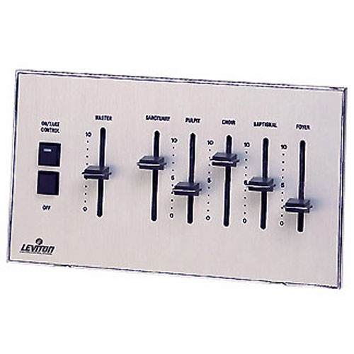 NSI / Leviton Analog Eight Channel Wall-Mountable ON/TAKE Control Switch
