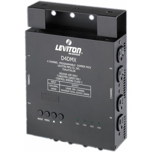 NSI / Leviton D4-DMX 4 Channel Programmable Dimmer Pack - 3-Pin XLR (120V)