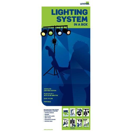 NSI / Leviton Par 38 4-Light D4DMX/N3004 Mini Kit (Black)
