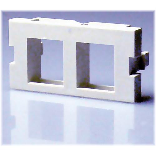 NTW 3UN/B-KY2W UniMedia 1-Port Dual Keystone Blank Module (1U)