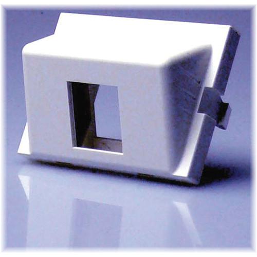 NTW 3UN/B-KYA1W UniMedia 2-Port Angled Single Keystone Blank Module (1.5U)