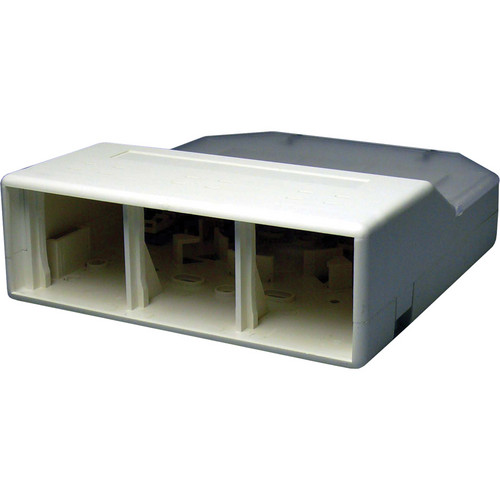 NTW 3UN-SB6W UniMedia Extra Large Surface Mount Box with 6 Outlets