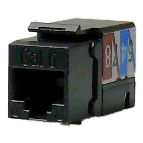 NTW CAT6 90° Slim 110 Professional Keystone Jack (Black)