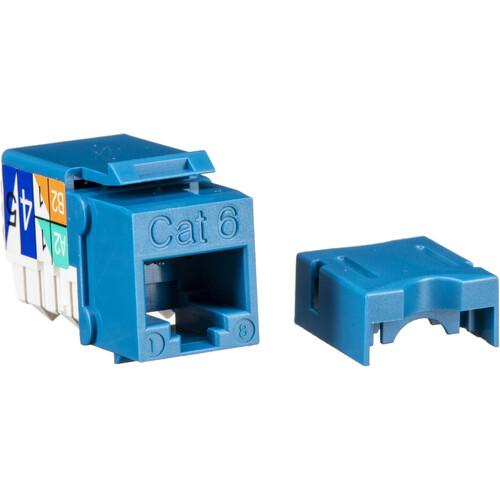 NTW CAT6 90° Slim 110 Professional Keystone Jack (Blue)