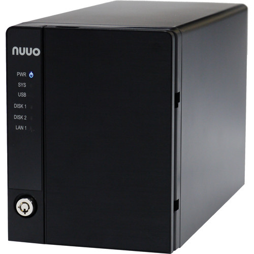 NUUO NVRmini2 NE-2020 NVR and Server (2-Channel, 2 Drive Bays, 1TB)