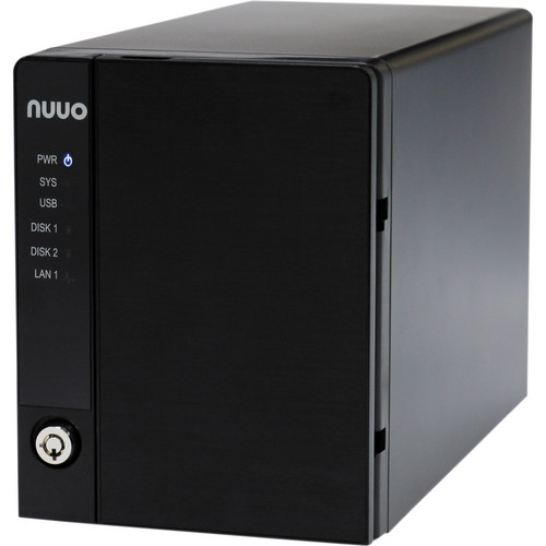 NUUO NVRmini2 NE-2020 NVR and Server (2-Channel, 2 Drive Bays, 3 TB)