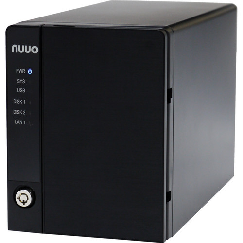 NUUO NVRmini2 NE-2040 NVR and Server (4-Channel, 2 Drive Bays, 2TB)