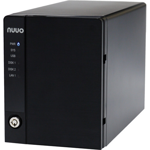 NUUO NVRmini2 NE-2040 NVR and Server (4-Channel, 2 Drive Bays, US Power Cord)