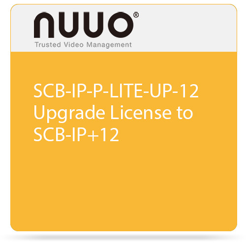 NUUO SCB-IP-P-LITE-UP-12 Upgrade License to SCB-IP+12