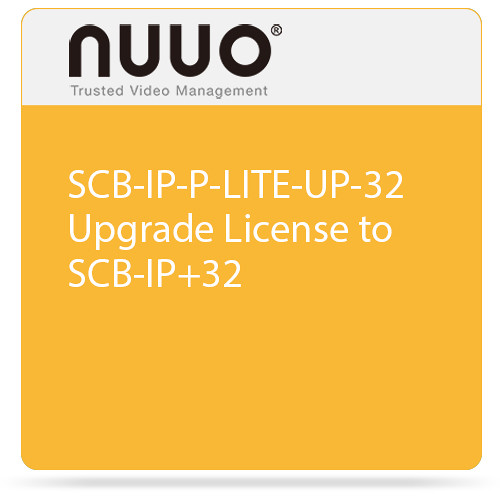 NUUO SCB-IP-P-LITE-UP-32 Upgrade License to SCB-IP+32