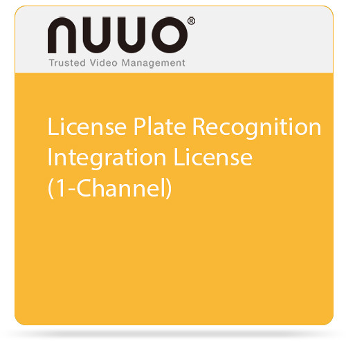 NUUO License Plate Recognition Integration License (1-Channel)