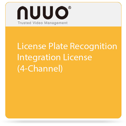 NUUO License Plate Recognition Integration License (4-Channel)