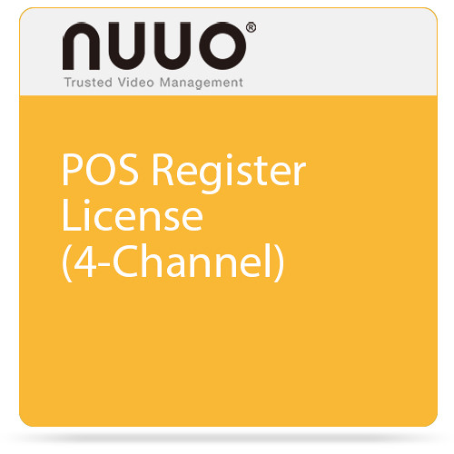 NUUO POS Register License (4-Channel)