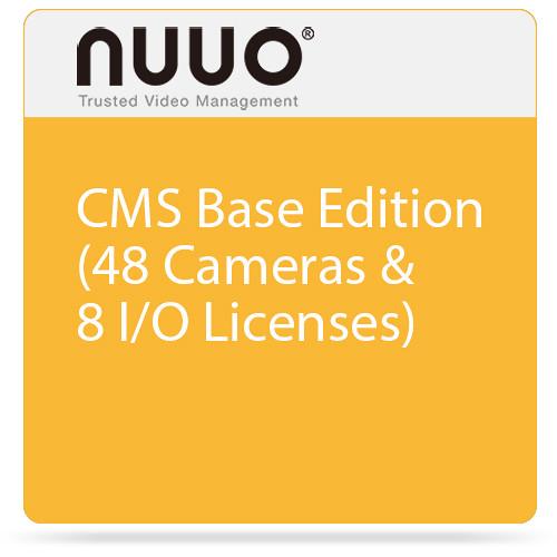 NUUO CMS Base Edition (48 Cameras & 8 I/O Licenses)