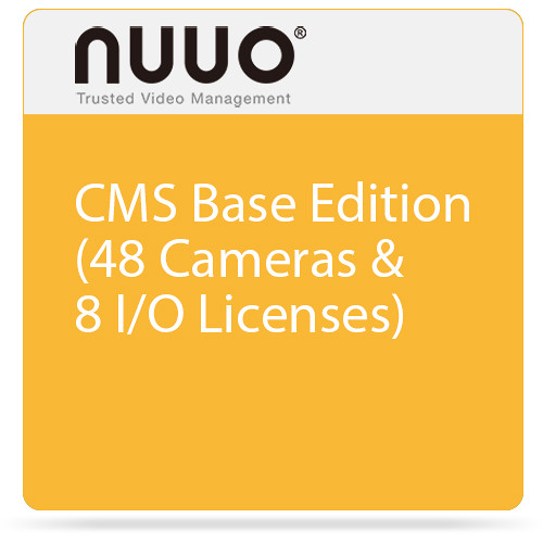 NUUO CMS Base Edition (48 Cameras & 8 I/O Licenses)