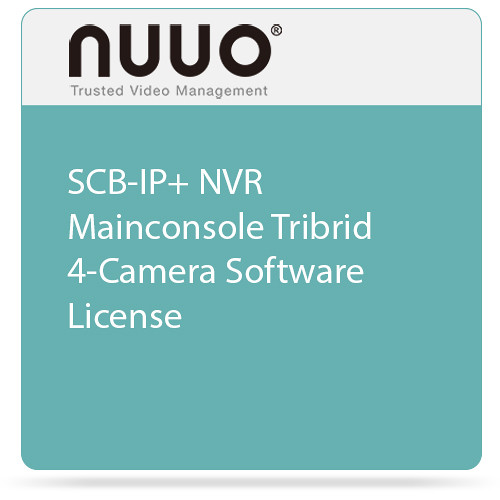 NUUO SCB-IP+ NVR Mainconsole Tribrid 4-Camera Software License
