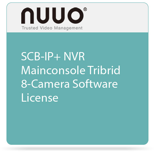 NUUO SCB-IP+ NVR Mainconsole Tribrid 8-Camera Software License
