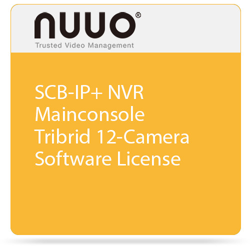 NUUO SCB-IP+ NVR Mainconsole Tribrid 12-Camera Software License