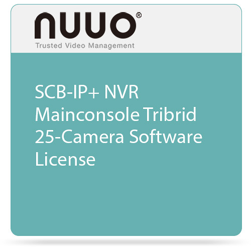 NUUO SCB-IP+ NVR Mainconsole Tribrid 25-Camera Software License