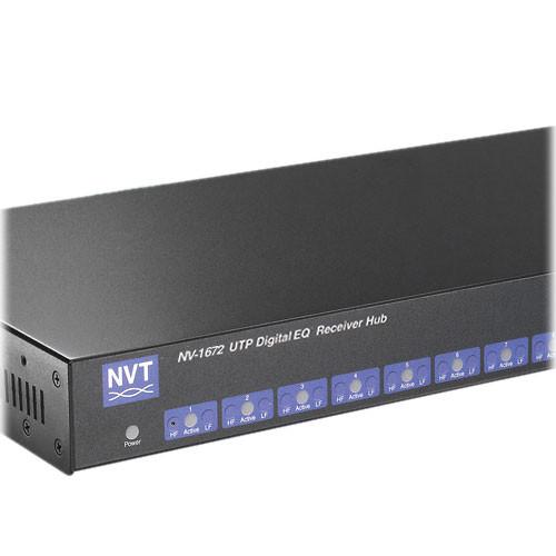 NVT NV-1672 16-Channel DigitalEQ Active Receiver Distribution Amplifier Hub