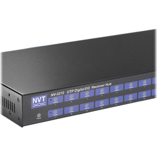 NVT NV-3272 32-Channel DigitalEQ Active Receiver Distribution Amplifier Hub
