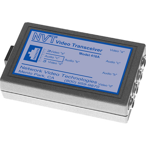 NVT NV-418A  Dual Channel Passive Video/Audio Transceiver