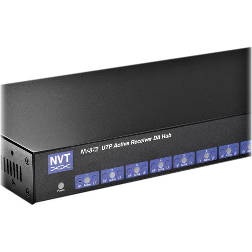 NVT NV-872 DigitalEQ 8-Channel Active Receiver Distribution Amplifier Hub