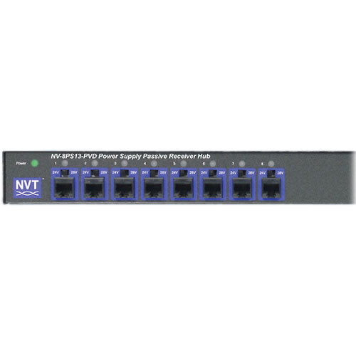 NVT NV-8PS13-PVD 8-Channel Power Supply Passive Video Receiver Hub