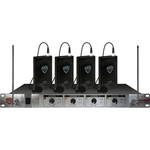 Nady 401X Quad 4-Channel VHF Wireless Microphone System