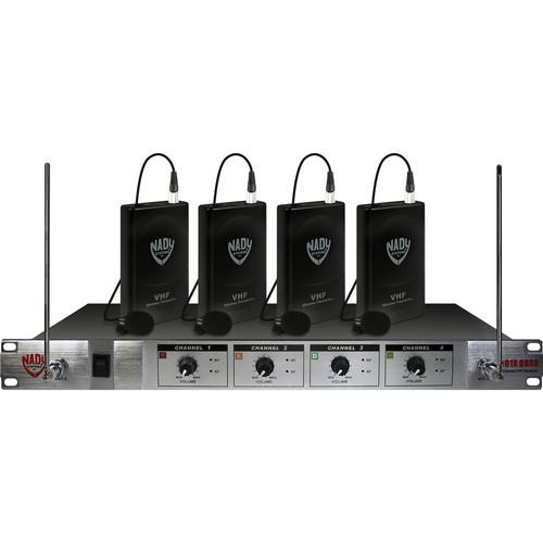 Nady 401X Quad 4-Channel VHF Wireless Microphone System