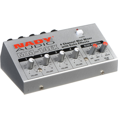 Nady MM-14FX 4-Channel Mini Mixer with Echo Effects