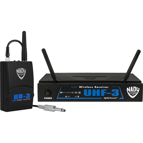 Nady UHF-3 UHF Wireless Diversity Guitar System