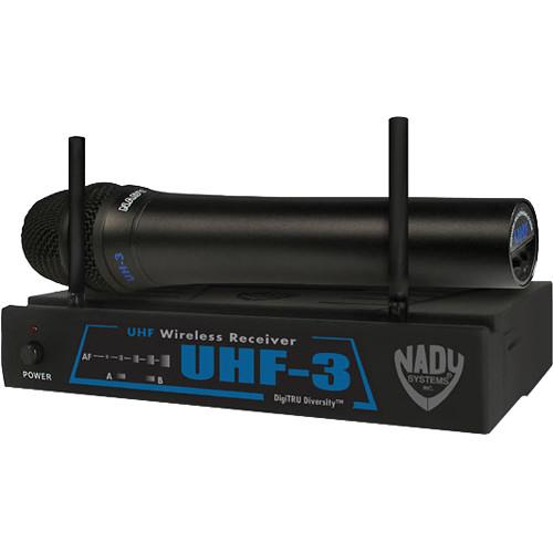 Nady UHF-3 Handheld UHF Wireless Microphone System
