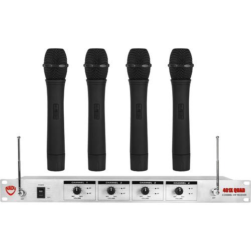 Nady U-41 QUAD HT Wireless Microphone System