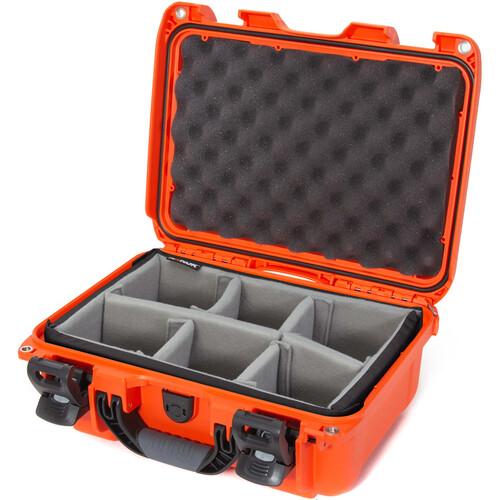 Nanuk 915 Case with Padded Dividers (Orange)