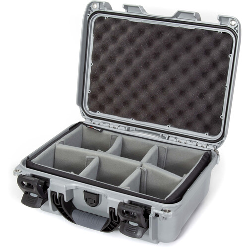 Nanuk 915 Case with Padded Dividers (Silver)
