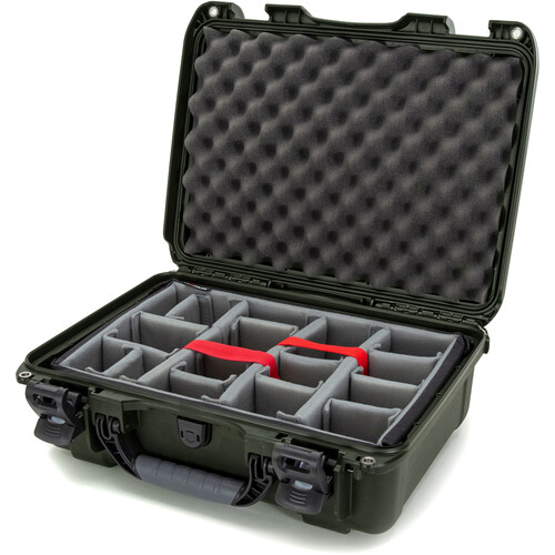 Nanuk 925 Case with Padded Dividers (Olive)