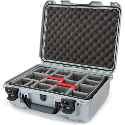 Nanuk 930 Case with Padded Dividers (Silver)