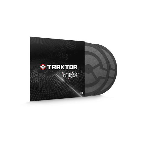 Native Instruments TRAKTOR Butter Rugs Advanced Slipmats for Turntablists (Pair)