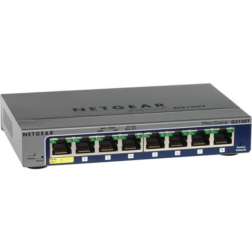 Netgear GS108T-200NAS ProSafe 8-Port Gigabit Smart Switch
