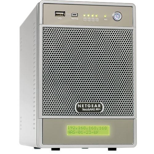 Netgear ReadyNAS NV+ 4-Bay Gigabit Desktop Network Storage Enclosure