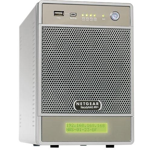 Netgear ReadyNAS NV+ 4-Bay Gigabit Desktop Network Storage Enclosure