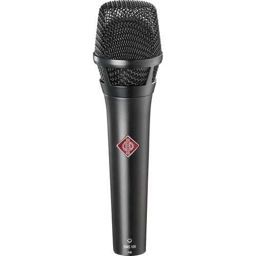 Neumann KMS 105 - Live Vocal Condenser Microphone (Black)