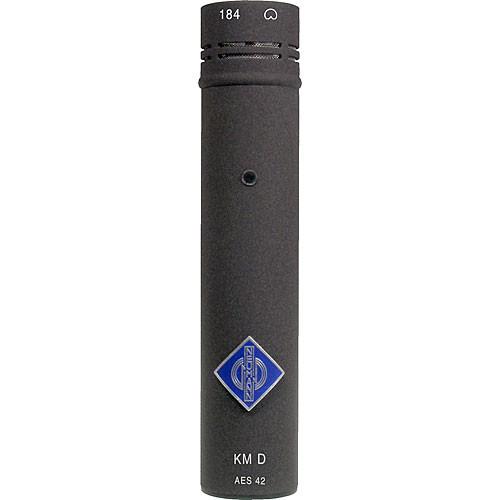 Neumann KM 184 D Small Diaphragm Cardioid Digital Microphone with AES/EBU Output (Nextel Black)