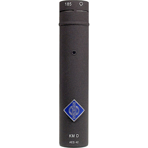 Neumann KM 185 D NX Small Diaphragm Hypercardioid Digital Microphone with AES/EBU Output (Nextel Black)