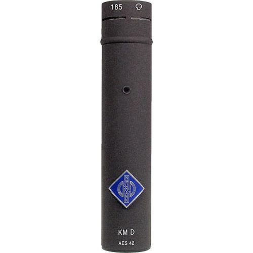 Neumann KM 185 D NX Small Diaphragm Hypercardioid Digital Microphone with AES/EBU Output (Nextel Black)