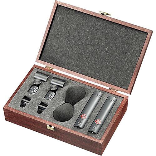 Neumann KM 185 D NX Small Diaphragm Hypercardioid Digital Microphones with AES/EBU Output (Stereo Set, Nextel Black)