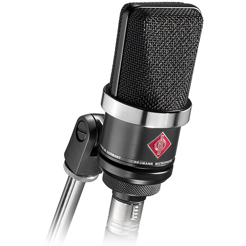 Neumann TLM 102 BK Large-Diaphragm Cardioid Condenser Microphone (Black)