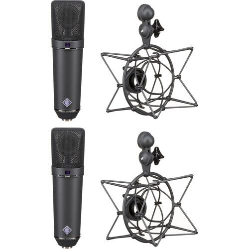 Neumann U 87 Ai Condenser Microphone (Stereo Set,<sp> </sp>Black)