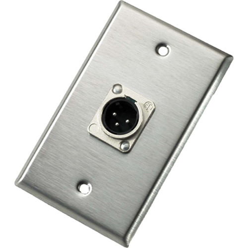 Neutrik 103M Single Gang Wallplate with Male Receptacle